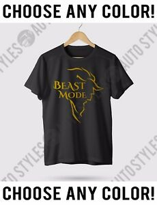 Beast-Mode-Workout-Gym-Muscle-Lifting-T-Shirt-Disney-Beauty-amp-The-Beast-Any-Size