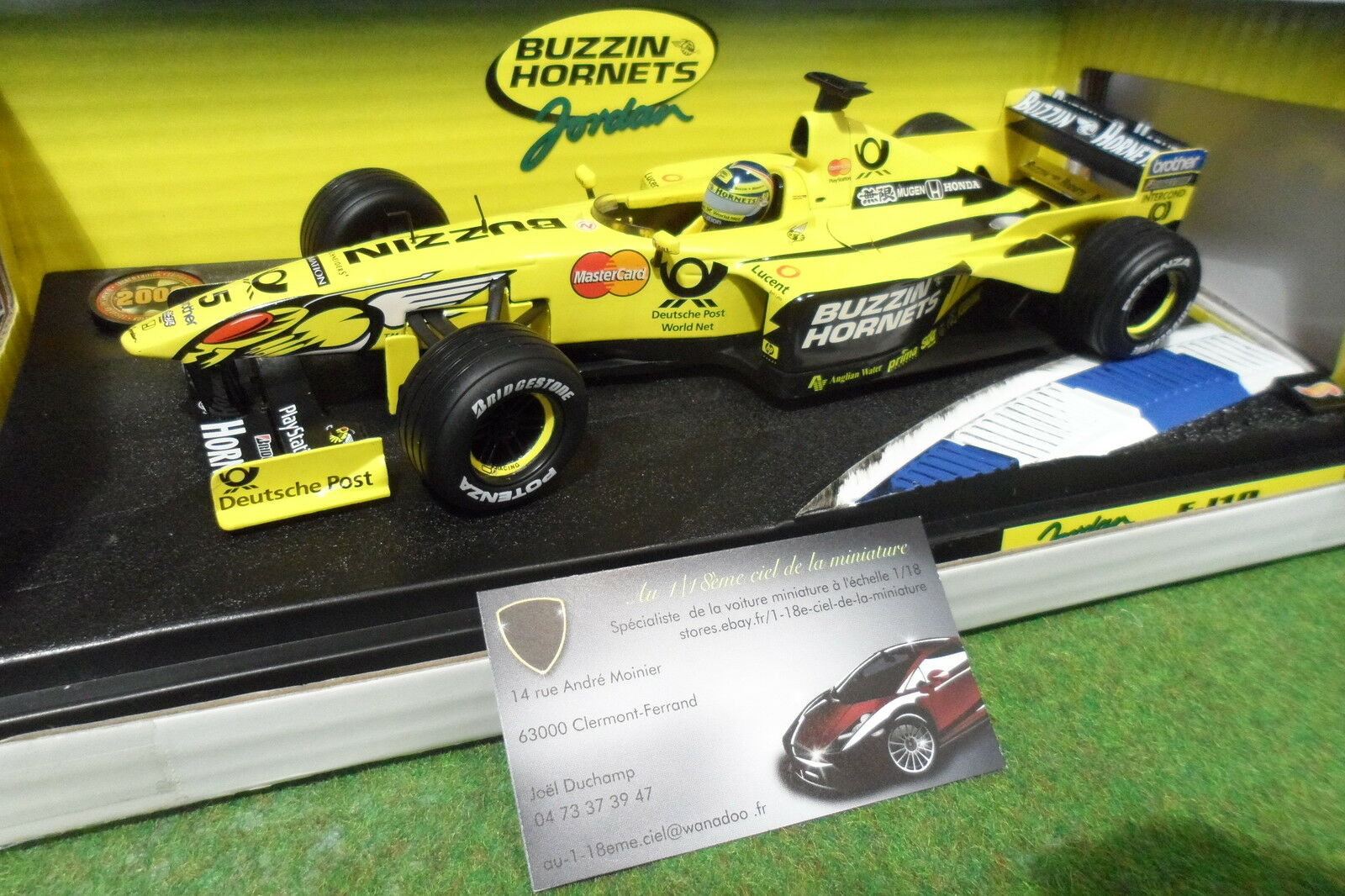 F1 JORDAN HONDA EJ10 FRENTZEN 1 18 HOT WHEELS 26700 formule 1 voiture miniature
