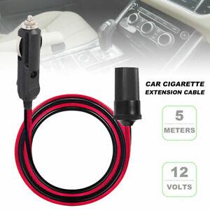 5M-Car-Cigarette-Cigar-Lighter-Extension-Cable-Adapter-Socket-Charger-Cord-12V