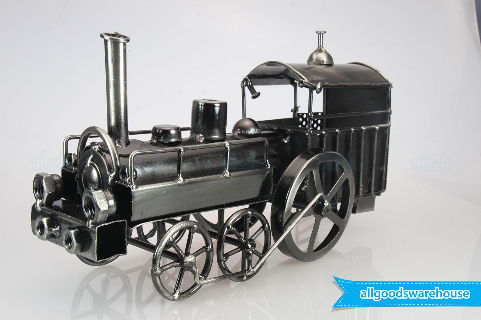 Scrap Metal Art Handmade Nuts & Bolts Vintage Steam Train Gift Model Collector