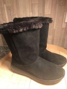 Faux Fur Boots - Stunning Black 7M   eBay