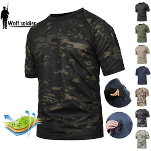 Mens-Military-Tactical-T-Shirt-Combat-Short-Sleeve-Army-Casual-Shirts-Camouflage