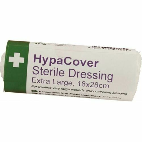 NEW SAFETY FIRST AID HYPACOVER EXTRA LARGE STERILE DRESSINGS PACK OF 6 D7633PK6