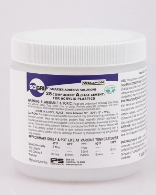 IPS Weld-On #28 Kit 3-Part Acrylic Based Adhesive - 1 Pint (16 oz.)