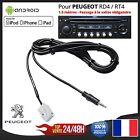 Câble AUX MP3 Auxiliaire Jack 3.5mm Peugeot RD4 RT4 307 407 3008 RCZ 5008 308