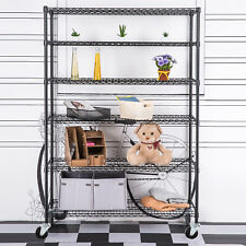 Commercial 4/5/6 Tier Storage Rack Organizer Kitchen Shelving Steel Wire Shelves
