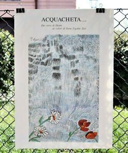 Irene-Ugolini-Zoli-litografia-a-colori-poster-49x70-cm-1980