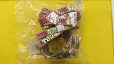"Breast Cancer Awareness SET OF 12 Men's Rubber Bracelets TOUGH GUYS WEAR PINK 8"""