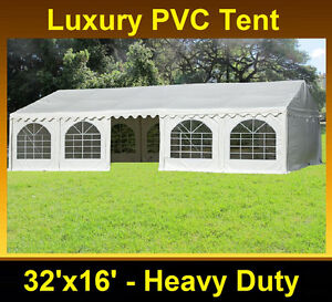 Image is loading PVC-Party-Tent-32-039-x16-039-Heavy-  sc 1 st  eBay & PVC Party Tent 32u0027x16u0027 - Heavy Duty Party Wedding Tent Canopy ...