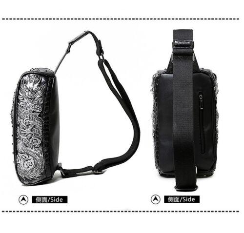 New Mens Punk Vintage Single Shoulder Motorcycle Travel Pocket Pack Waist Bags