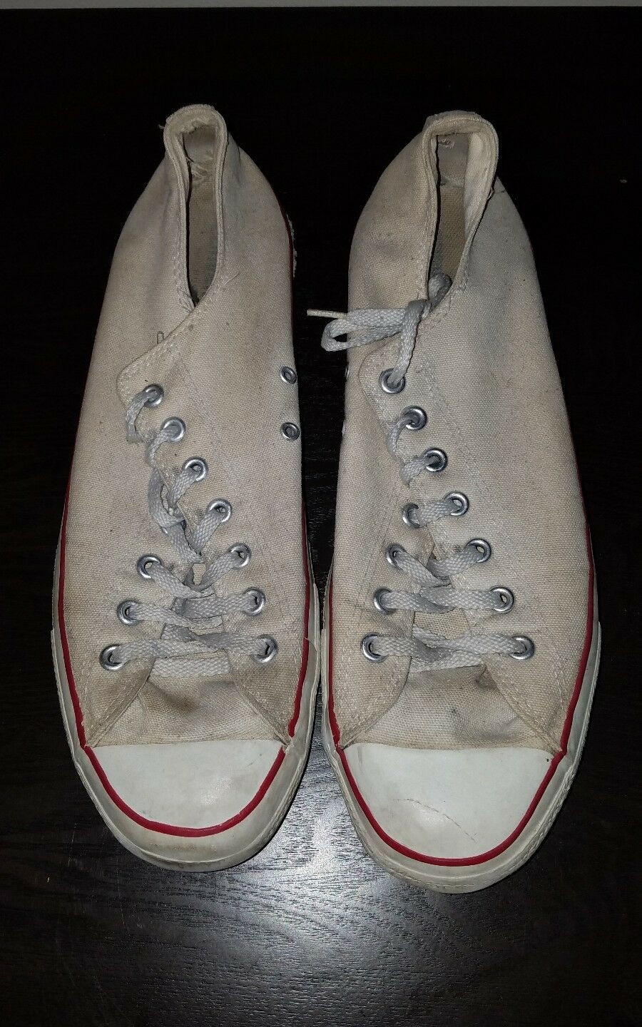 Vintage Converse Chuck Taylor Made In The USA Classic White shoes. Sz 13M