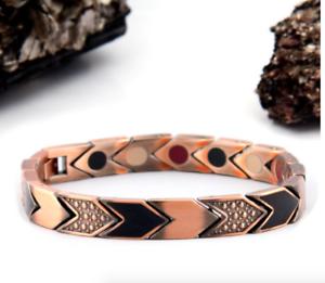 Authentic-Pur-life-Negative-Ion-Bracelet-ELEGANT-Copper-3-Tone-Shield-PURLIFE