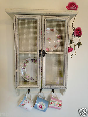 Shabby Chic Wall Cupboard Cabinet Vintage Rustic Storage Shelf Kitchen Unit New