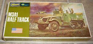 WWII-M3A1-HALF-TRACK-AMERICAN-ARMOR-MODEL-KIT-1-72-HASEGAWA-MINI-CRAFT-NEW-706