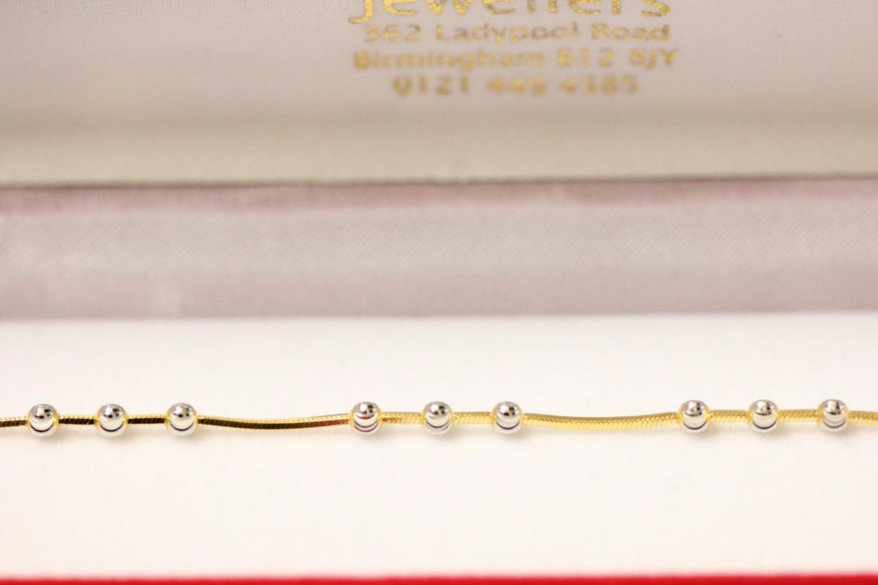 b0107b52d4bda gold tones 2 indian sparkling 22ct 916 bracelet attractive Boxed ...