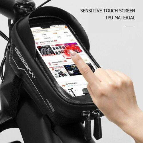 MTB Bicycle Waterproof Phone Holder Case Cycling Bike Front Top Tube Frame Bag