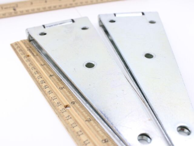 5 Pack N128-074 6-In Zinc Strap//Gate Hinge Exterior Coating Weatherguard