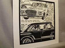 1961 Valiant   Auto Pen Ink Hand Drawn  Poster Automotive Museum
