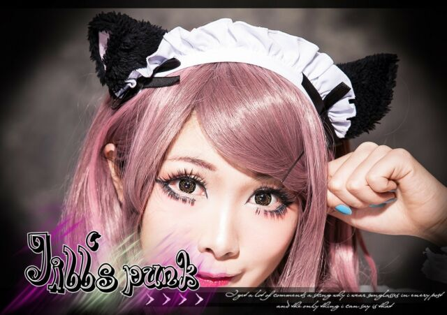 Lolita Cartoon cosplay Kitten Housekeeper maid waitress headband JHU6002 bk