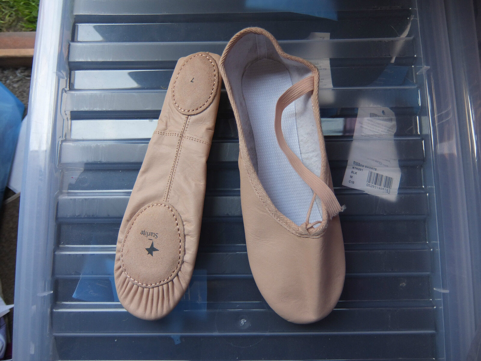 Pink leather split sole ballet shoes - all sizes