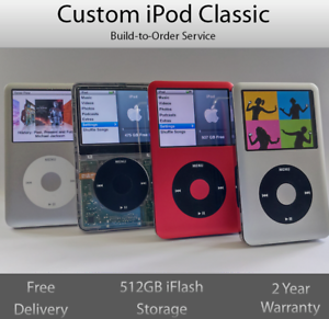 Custom iPod Refurbished 7th Gen | Build to Order | 512GB & Extended Battery