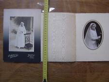 Lot PHOTO portrait de communiante religion chretienne communion VINTAGE