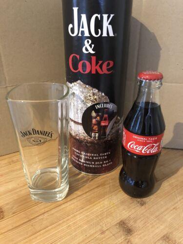 Jack Daniel/'s Highball Glass /& Coca Cola Bottle JACK /& COKE Gift Set In Tube Box