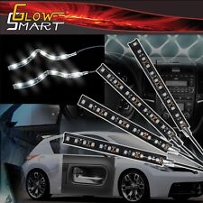 """4"""" White Rubber LED Strip (4-piece) for Car Boat and Motorcycle & Parties"""