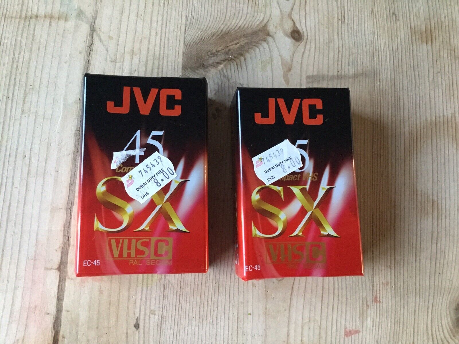 2x New Sealed JVC SX 45 SX45 Minute VHS-C Compact Camcorder Video Tape Cassette