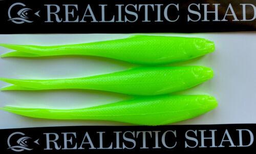 Realistic Shad Gudgeon 12cm Split Tail X 3