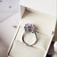 5Ct-Oval-Cut-Amethyst-Diamond-Cocktail-Halo-Engagement-Ring-14K-White-Gold-Over thumbnail 4
