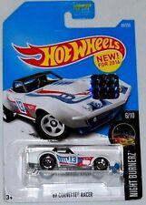 Hot Wheels Cars - '69 Corvette Racer White
