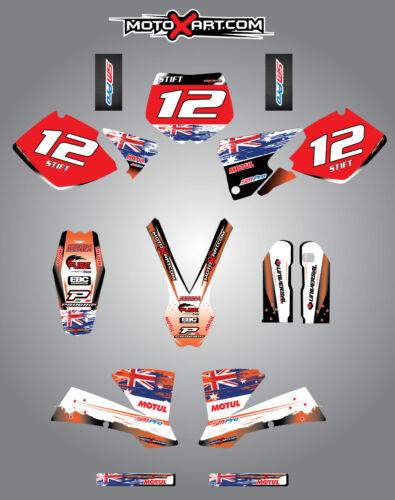 Full  Custom Graphic  Kit 2001 2002 stickers KTM 125 SX AUSSIE PRIDE