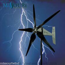 "Raptor G5™  5 blade 12/24 volt 2000 watt max wind turbine generator 38"" blades"