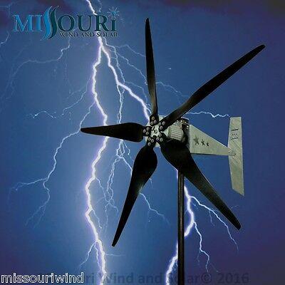 12 Volt 2000 Watt Missouri Falcon Mach 5 80.5 Inch Freedom ll Wind Turbine
