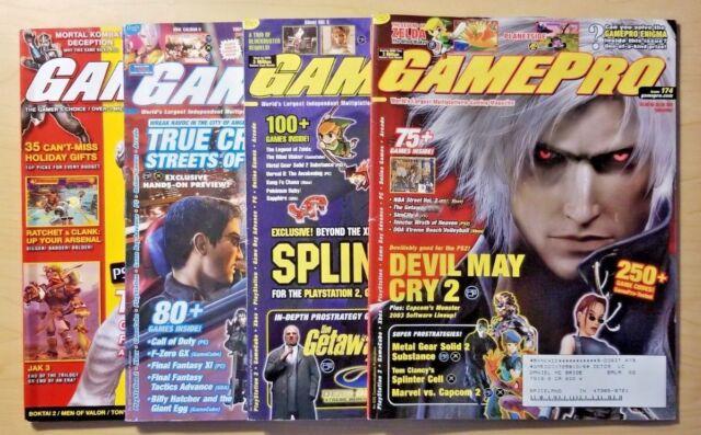 GamePro Magazine 4 Issue Lot