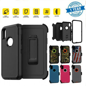 iPhone-X-Case-Screen-Protector-Belt-Clip-Holster-Fits-Otterbox-Defender-Series