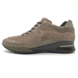 Tods Project Taupe Leather Lace Up