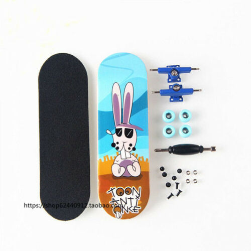 Basic Complete Wooden Fingerboard Maple Wood with Bearings Grit Foam Tape Rabbit