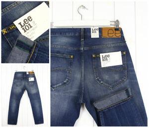 Neuf-Lee-101Z-Jeans-341ml-Lisieres-Vintage-Regulier-Coupe-Droite-Toutes-les