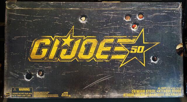 GI Joe 50th Anniversary Crimson Strike Set SDCC 2015 NEW
