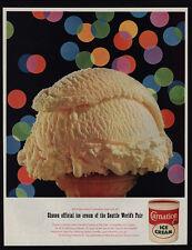 1962 CARNATION Vanilla Ice Cream Cone - Seattle's World Fair - VINTAGE AD
