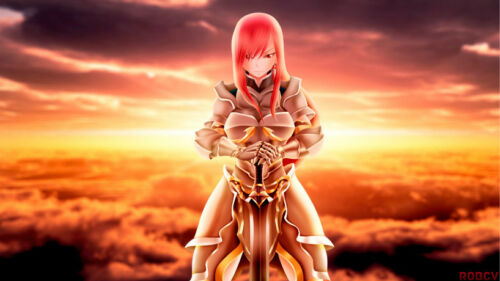 Anime  Fairy Tail Erza Scarlet 24 X 14 Inch Home Decoration Poster