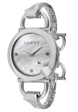bd9f2ab07dd Gucci YA122504 Chiodo Diamond Mother-of-Pearl Dial 122.5 Series Watch  1