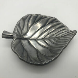 Metal-Leaf-Shaped-Dish-Soap-Trinket-Candy
