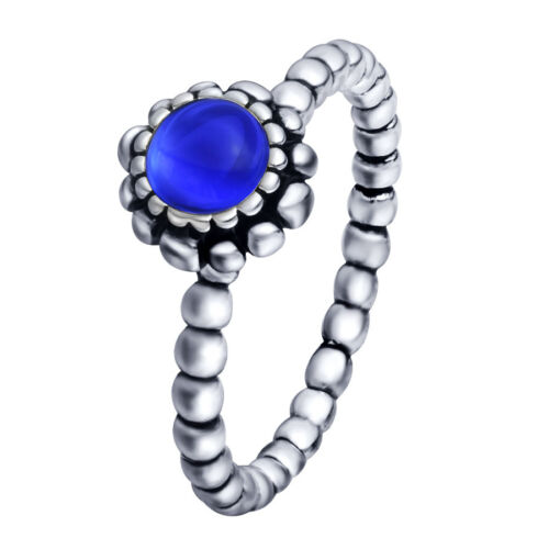 Women New Fashion Natural Glass silver Ring Size 6-9 Brand 925 sterling Jewelry