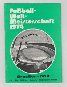 Details zu Orig.PRG WM Deutschland 1974 BRASILIEN DDR 2.Finalrunde !! TOP RARITÄT