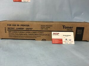 1 Ricoh BLACK Toner MP C2551 C2550 C2050 C2030 C2530 841280 841500 C9025 LD525C