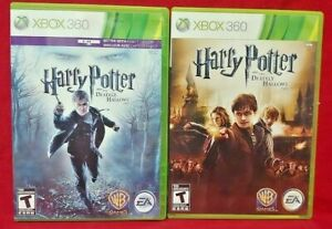 Harry-Potter-Deathly-Hallows-Part-1-amp-2-XBOX-360-Games-Lot-Complete-1-Owner