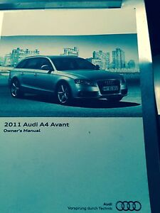 2011 audi a4 avant owners manual book oem ebay rh ebay com audi a4 owners manual 2018 audi a4 owners manual 2013